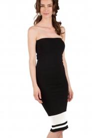 NIKKIE | Strapless jurk Juno Tube | zwartwit  | Afbeelding 4
