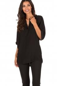 DAY Birger et Mikkelsen | Zijden blouse Fan | zwart  | Afbeelding 2