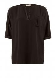 DAY Birger et Mikkelsen | Zijden blouse Fan | zwart  | Afbeelding 1