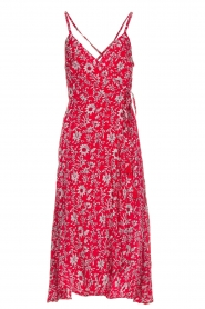BEACHGOLD |  Floral midi wrap dress Picolo | red  | Picture 1