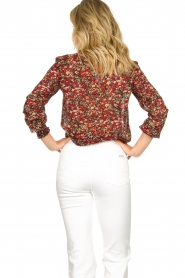 Set |  Floral blouse Amory | red  | Picture 7