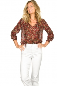 Set |  Floral blouse Amory | red  | Picture 4