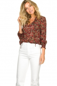 Set |  Floral blouse Amory | red  | Picture 5