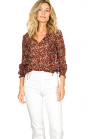 Set |  Floral blouse Amory | red  | Picture 2