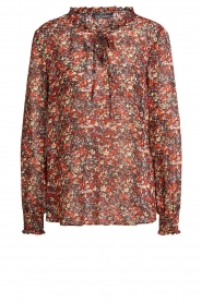 Set |  Floral blouse Amory | red  | Picture 1