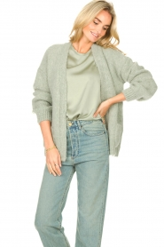 Knit-ted    Knitted cardigan Bernelle   blue    Picture 2