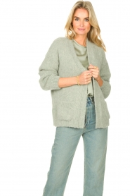 Knit-ted    Knitted cardigan Bernelle   blue    Picture 4