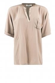 DAY Birger et Mikkelsen | Zijden blouse Fan | khaki  | Afbeelding 1