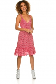 BEACHGOLD |  Dress with floral print Rambler | red  | Picture 3