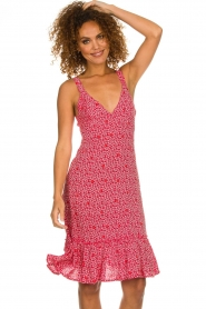 BEACHGOLD |  Dress with floral print Rambler | red  | Picture 2