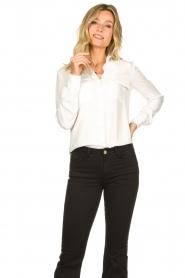 Set |  Silk mix blouse Angeli | white  | Picture 4