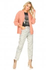 Knit-ted | Gebreid vest Bernelle | roze  | Afbeelding 3
