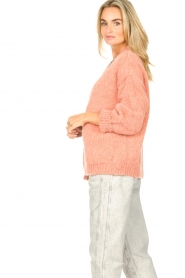 Knit-ted | Gebreid vest Bernelle | roze  | Afbeelding 5