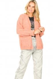 Knit-ted | Gebreid vest Bernelle | roze  | Afbeelding 4