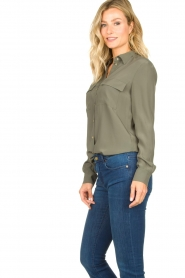 Set |  Silk mix blouse Angeli | green  | Picture 5