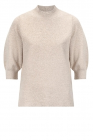 Knit-ted |  Knitted sweater Yara | beige  | Picture 1