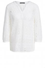 Set |  Ajour blouse Anais | white  | Picture 1