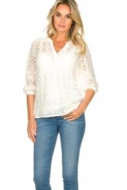 Set |  Ajour blouse Anais | white  | Picture 4