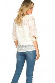 Set |  Ajour blouse Anais | white  | Picture 6