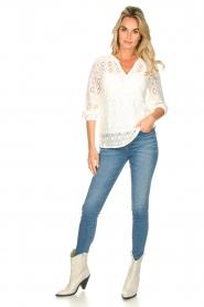 Set |  Ajour blouse Anais | white  | Picture 3