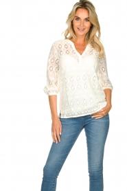Set |  Ajour blouse Anais | white  | Picture 2