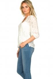Set |  Ajour blouse Anais | white  | Picture 5