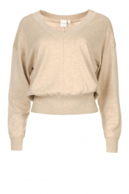 Knit-ted |  V-neck Lotte | Beige  | Picture 1
