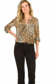 Set |  Animal print blouse Annora | brown  | Picture 2