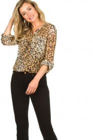 Set |  Animal print blouse Annora | brown  | Picture 5