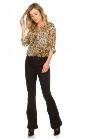 Set |  Animal print blouse Annora | brown  | Picture 3
