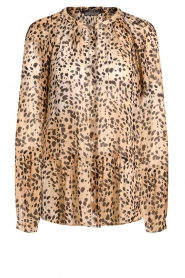 Set |  Animal print blouse Annora | brown  | Picture 1