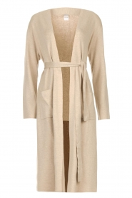 Knit-ted |  Long cardigan Liv | beige  | Picture 1