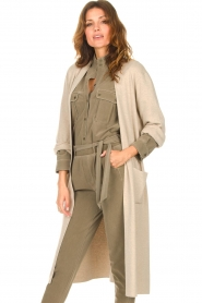 Knit-ted |  Long cardigan Liv | beige  | Picture 4