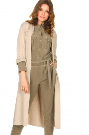 Knit-ted |  Long cardigan Liv | beige  | Picture 2