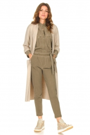 Knit-ted |  Long cardigan Liv | beige  | Picture 3