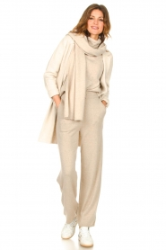 Knit-ted |  Knitted pants Noor | beige  | Picture 2