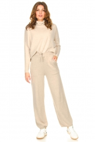 Knit-ted |  Knitted pants Noor | beige  | Picture 3