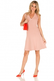 NIKKIE | V-hals jurk Ventura | roze  | Afbeelding 3