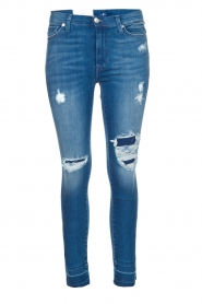 High waisted skinny jeans Unrolled | Blauw
