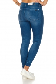 7 For All Mankind | High waisted skinny jeans Unrolled | Blauw  | Afbeelding 5
