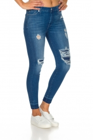 7 For All Mankind | High waisted skinny jeans Unrolled | Blauw  | Afbeelding 4