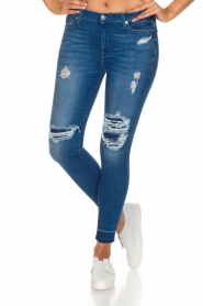 7 For All Mankind | High waisted skinny jeans Unrolled | Blauw  | Afbeelding 2