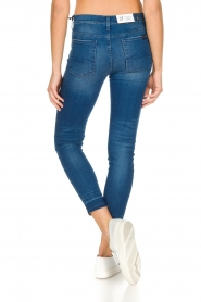 7 For All Mankind : High waisted skinny jeans Unrolled | Blauw - img5