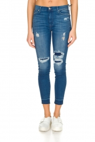 7 For All Mankind : High waisted skinny jeans Unrolled | Blauw - img2