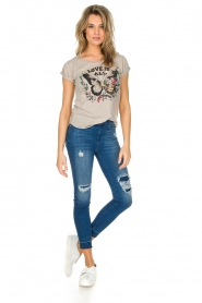 7 For All Mankind : High waisted skinny jeans Unrolled | Blauw - img3