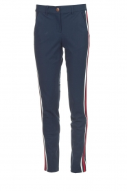 Golf trousers with sporty stripes Bucci | Blue