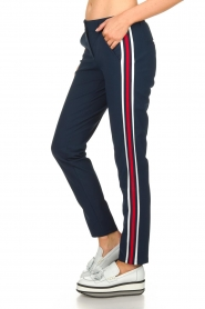Par 69 :  Golf trousers with sporty stripes Bucci | Blue - img4