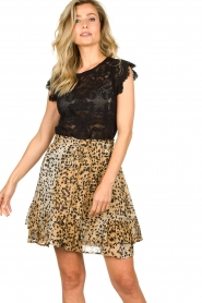Set |  Animal print skirt Ayana | brown  | Picture 4