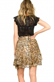Set |  Animal print skirt Ayana | brown  | Picture 6