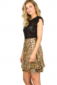 Set |  Animal print skirt Ayana | brown  | Picture 5